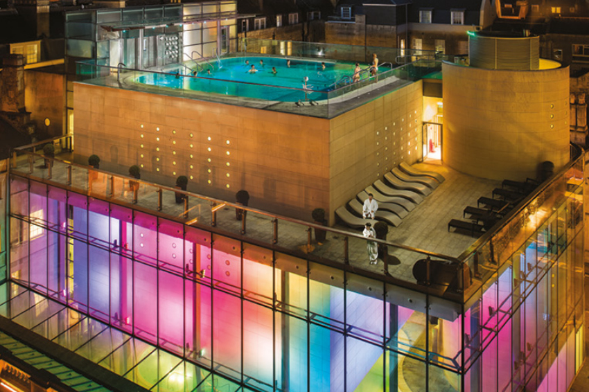 Thermae Bath Spa lighting